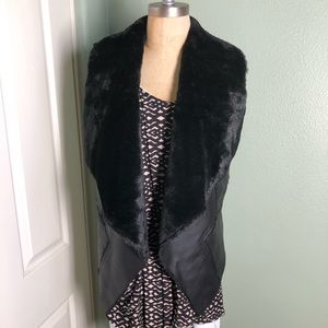 BLANK NYC Faux Leather & Fur Vest